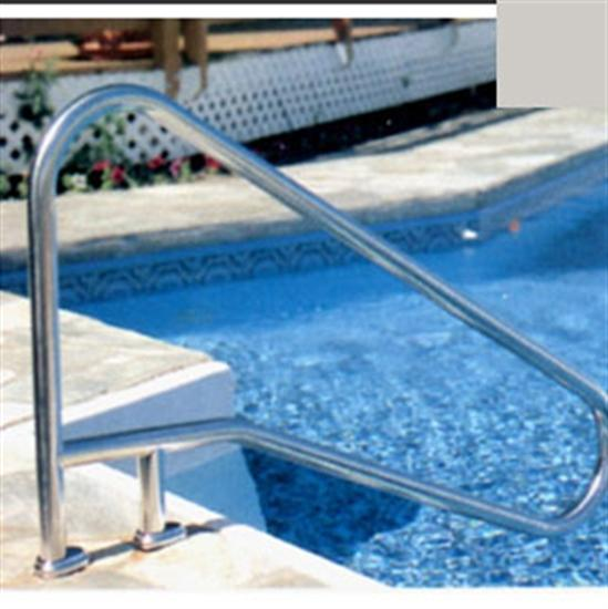 "SR Smith DMS-102 Deck Mounted Stair Rail - .049"" thick - Silver Gray-Aqua Supercenter Outlet - Discount Swimming Pool Supplies"