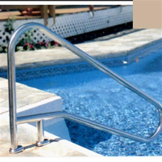 "SR Smith DMS-102 Deck Mounted Stair Rail - .049"" thick - Taupe-Aqua Supercenter Outlet - Discount Swimming Pool Supplies"