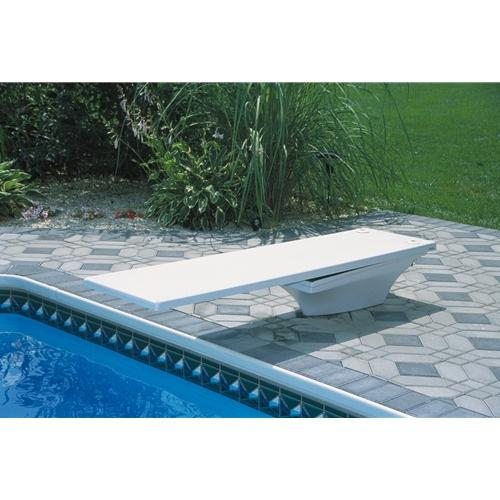 SR Smith Flyte-Deck Stand with 6' Fibre-Dive Board- Dive Board - Pewter Gray with Matching Tread-Aqua Supercenter Outlet - Discount Swimming Pool Supplies