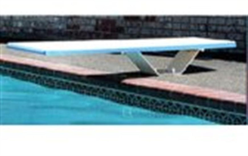 SR Smith Frontier II Jump Stand with 6' Frontier II Board - Pewter Gray with Matching Tread and White Springs-Aqua Supercenter Outlet - Discount Swimming Pool Supplies