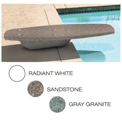 SR Smith Gray Granite HipHop Diving Board with Rock Gray Cantilever Stand-Aqua Supercenter Outlet - Discount Swimming Pool Supplies