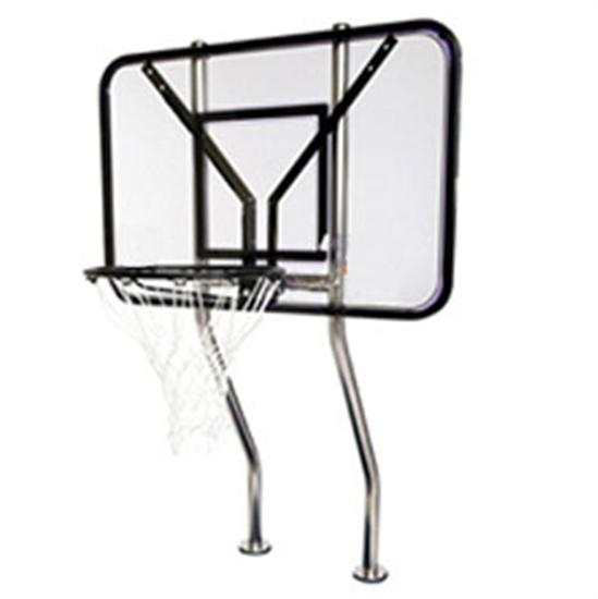 SR Smith Swim-N-Dunk Double Post Basketball Game Complete with Anchors-Aqua Supercenter Outlet - Discount Swimming Pool Supplies