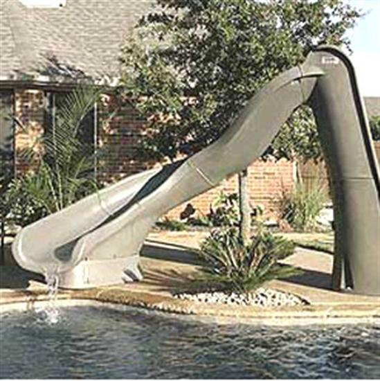 SR Smith Turbo Twister Pool Slide - Left Turn - Sandstone-Aqua Supercenter Outlet - Discount Swimming Pool Supplies