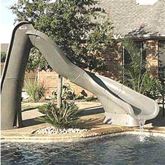 SR Smith Turbo Twister Pool Slide - Right Turn - Sandstone-Aqua Supercenter Outlet - Discount Swimming Pool Supplies