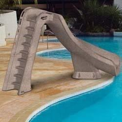 "SR Smith Typhoon Slide 88"" Right Curve Sandstone-Aqua Supercenter Outlet - Discount Swimming Pool Supplies"