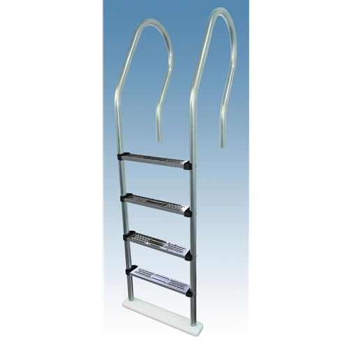 Stainless Steel Tread Reverse Bend In-Pool Ladder-Aqua Supercenter Outlet - Discount Swimming Pool Supplies