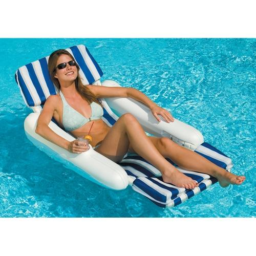 Sunchaser Padded Floating Lounger-Aqua Supercenter Outlet - Discount Swimming Pool Supplies
