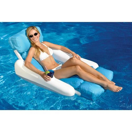 Sunchaser Sunsoft Luxury Lounger-Aqua Supercenter Outlet - Discount Swimming Pool Supplies