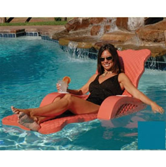 Texas Recreation Scalloped Folding Lounge - Aquamarine-Aqua Supercenter Outlet - Discount Swimming Pool Supplies