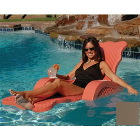 Texas Recreation Scalloped Folding Lounge - Bronze-Aqua Supercenter Outlet - Discount Swimming Pool Supplies