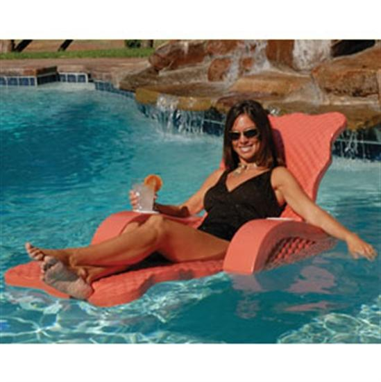 Texas Recreation Scalloped Folding Lounge - Coral-Aqua Supercenter Outlet - Discount Swimming Pool Supplies