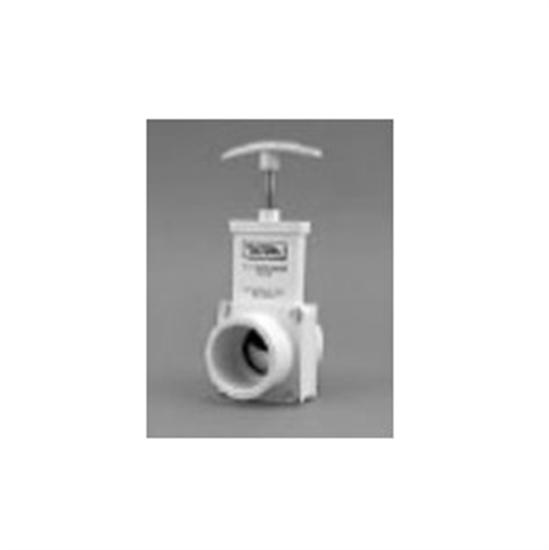 "Valterra 1.5"" SKT Unibody Gate Valve PVC - White-Aqua Supercenter Outlet - Discount Swimming Pool Supplies"