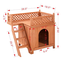 Load image into Gallery viewer, Wooden House for Small Dogs