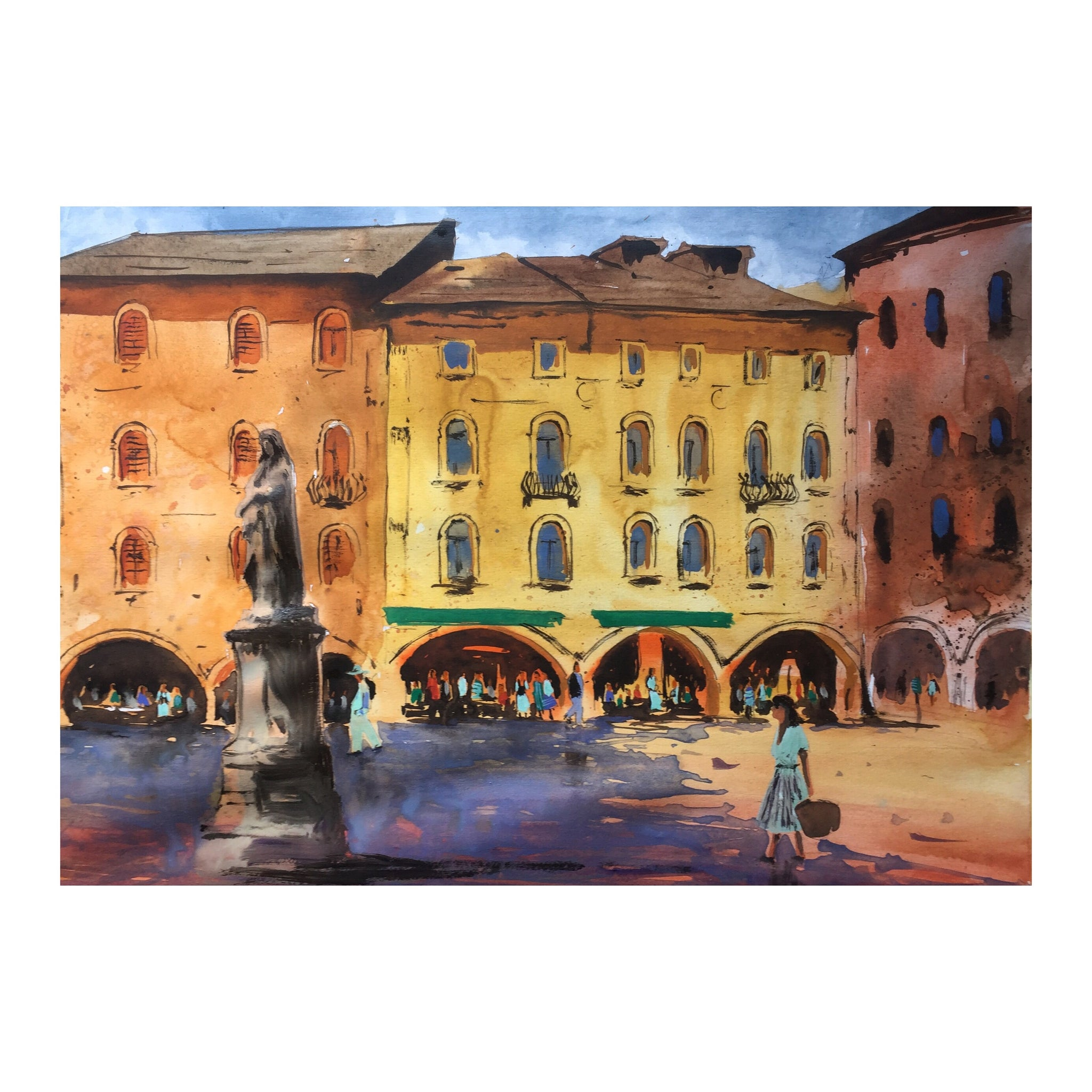 Italy | Watercolor Painting  | Landscape painting |  Watercolour | Original painting | Wall decor