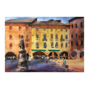 Italy | Watercolor Painting  | Landscape painting |  Watercolour | Original painting | Wall decor - Continuum Watercolors