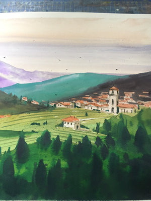 Nature | Watercolor Painting  | Landscape painting |  Watercolour | Original painting | Wall decor