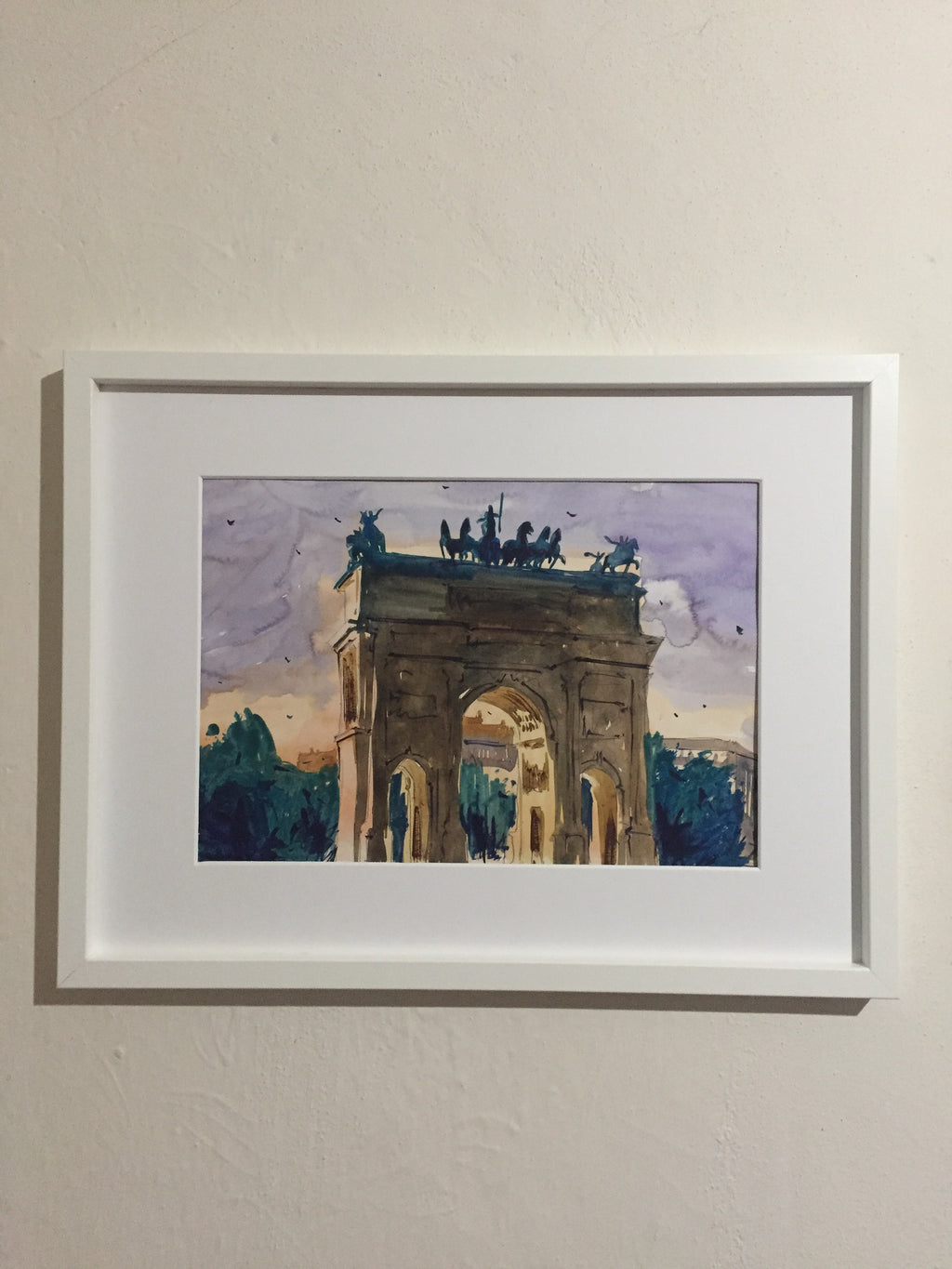 Milan | Watercolor Painting  | Landscape painting |  Watercolour | Original painting | Wall decor - Continuum Watercolors