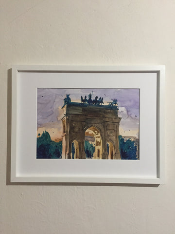 Milan | Watercolor Painting  | Landscape painting |  Watercolour | Original painting | Wall decor