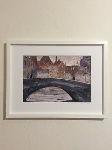 Bridge | Watercolor Painting  | Landscape painting |  Watercolour | Original painting | Wall decor