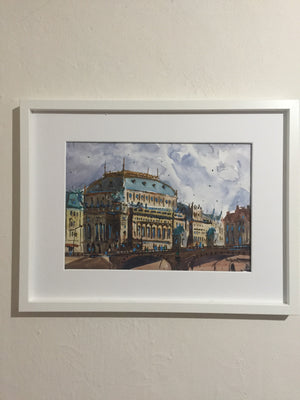 Prague | Watercolor Painting  | Landscape painting |  Watercolour | Original painting | Wall decor