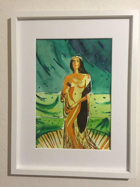 Venus | Watercolor Painting  | Portrait |  Watercolour | Original painting | Wall decor