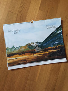 2019 Calendar with watercolor paintings