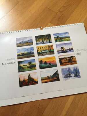 2019 Calendar with watercolor paintings - Continuum Watercolors