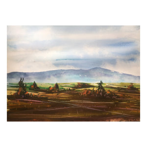 Autumn Landscape Watercolor Painting - Continuum Watercolors