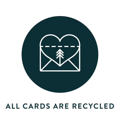 All our cards are recycled