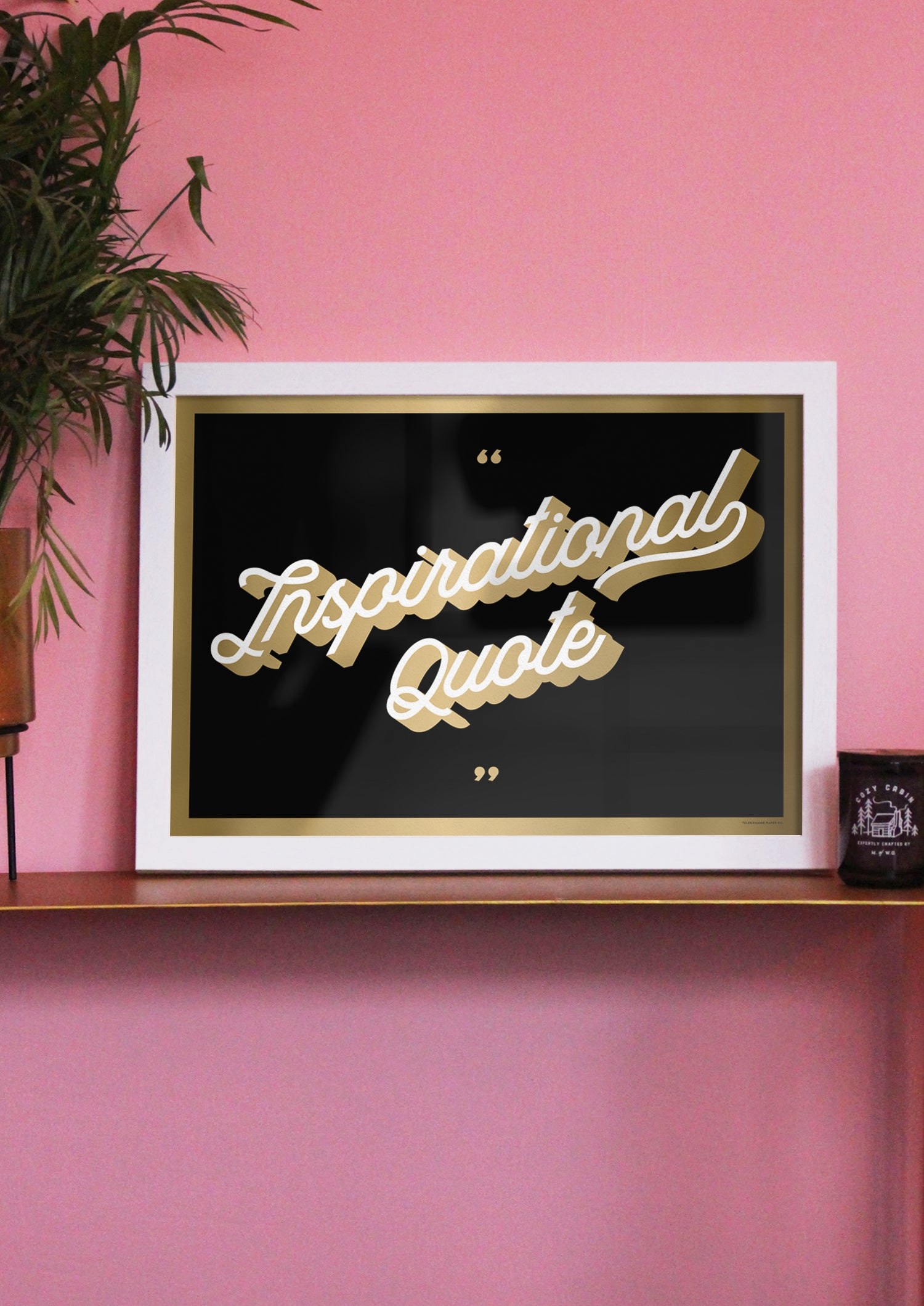 Inspirational Quote Gold Screenprint