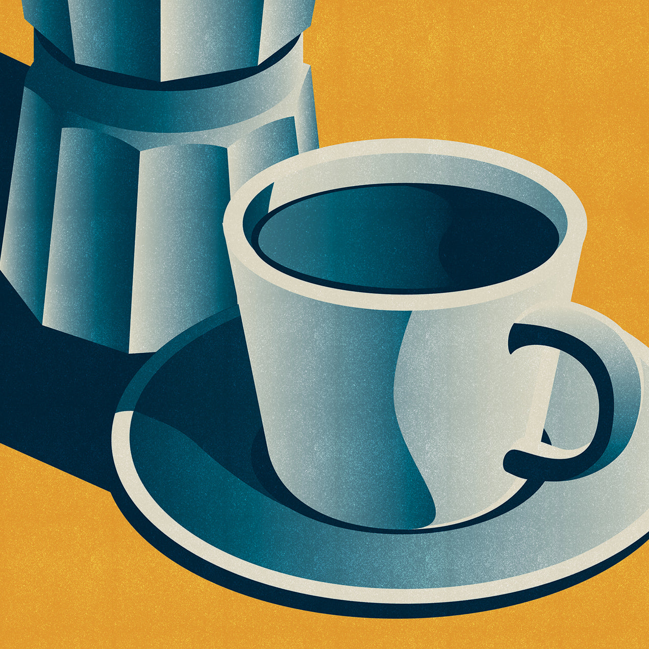 Buongiorno 'Good Morning' Coffee Print