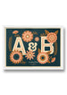 INITIALS PERSONALISED PRINT - FRAMED