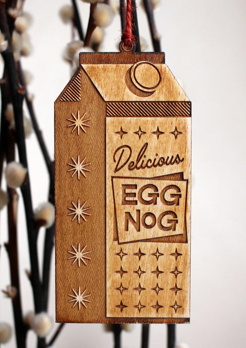 Eggnog Christmas Ornament