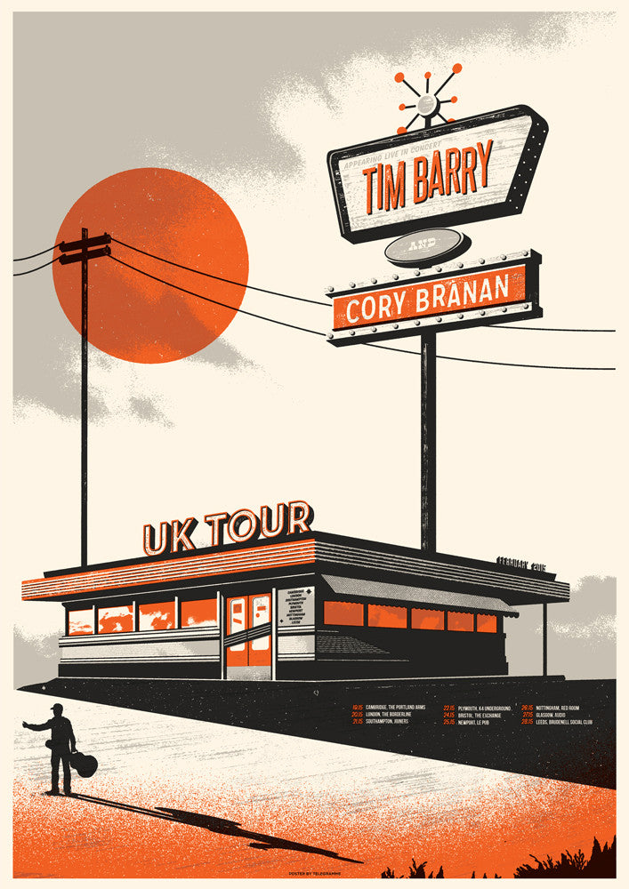 TIM BARRY / CORY BRANAN UK Tour Poster