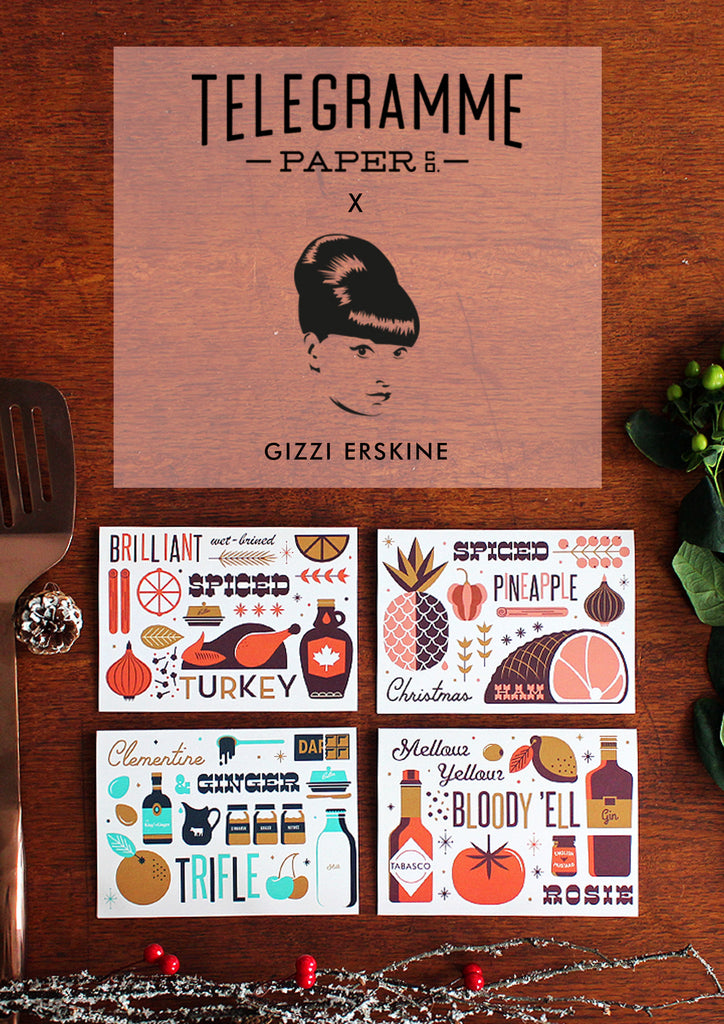 Telegramme x Gizzi Erskine Season's Eatings Christmas Card Set
