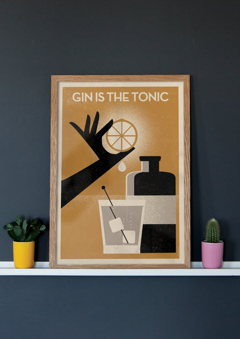 Gin Is The Tonic - Giclée Print
