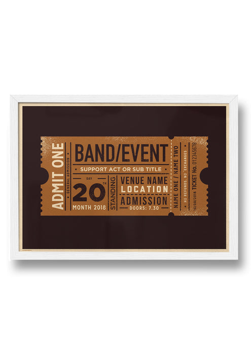 GIG / EVENT TICKET PERSONALISED PRINT