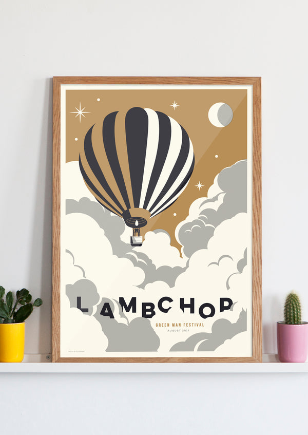 LAMBCHOP SCREENPRINTED GIG POSTER