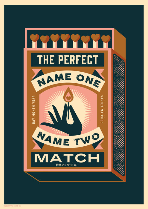 Matchbox Personalised Print