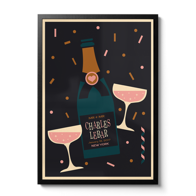 Champagne Personalised Print