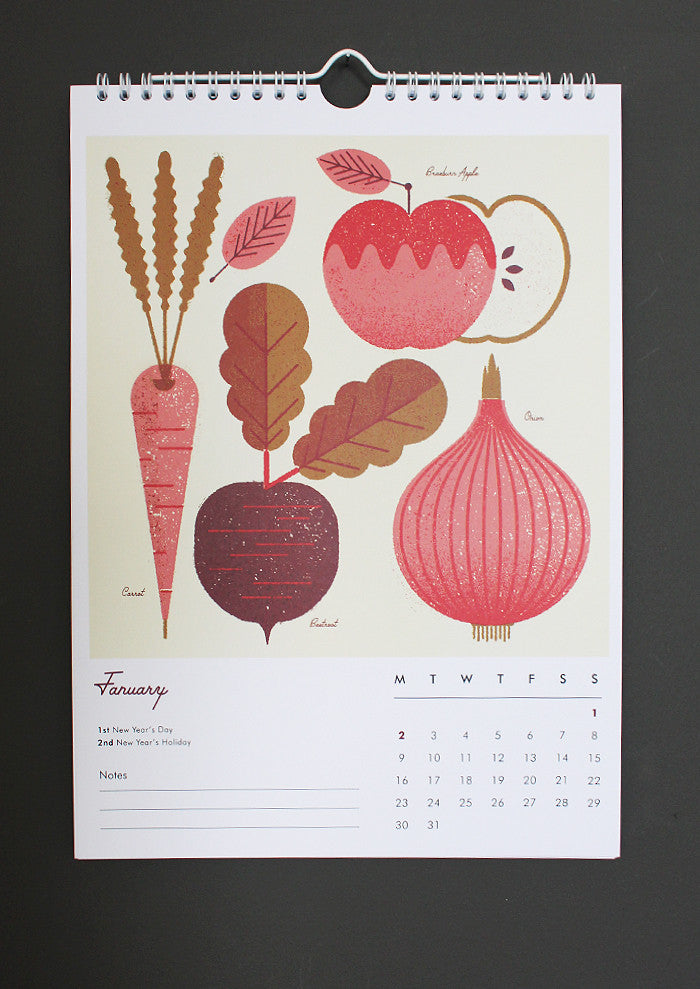 Telegramme Paper Co. Illustrated Calendar 2017