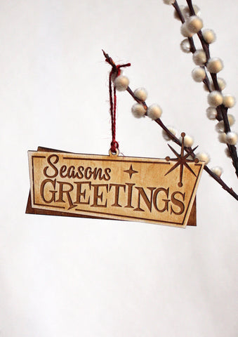 SEASONS GREETINGS CHRISTMAS ORNAMENT