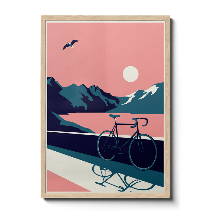 Summertime Travel - Bike - Giclée Print