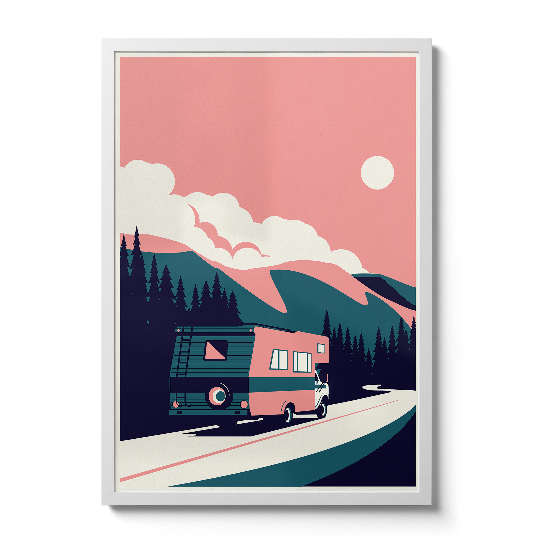 Summertime Travel RV - Giclée Print