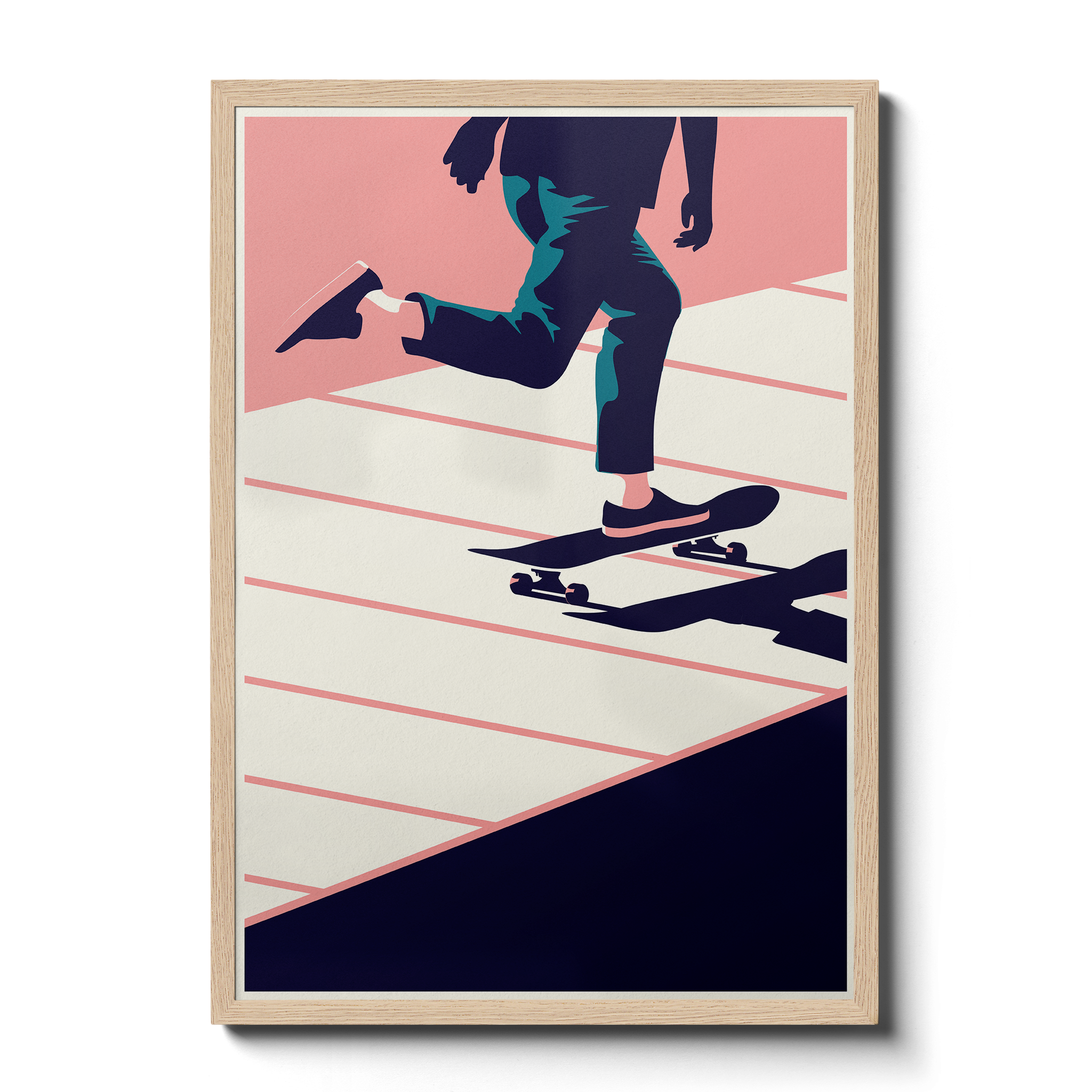 Summertime Travel Skate - Giclée Print