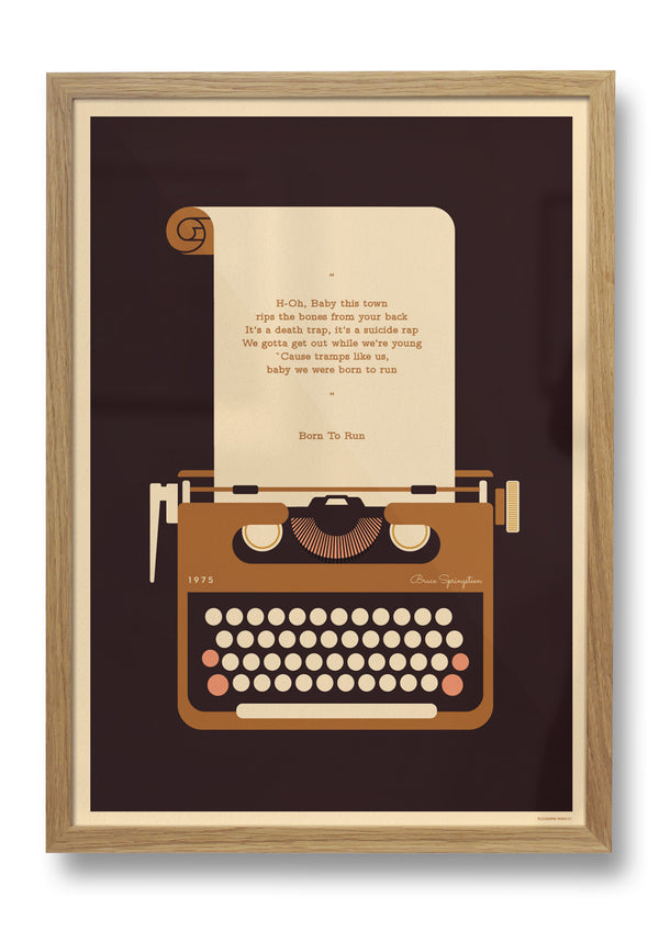 Typewriter Personalised Print - FRAMED