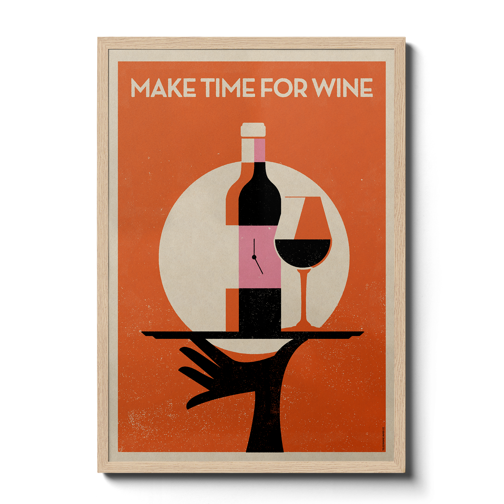 Make Time For Wine - Giclée Print