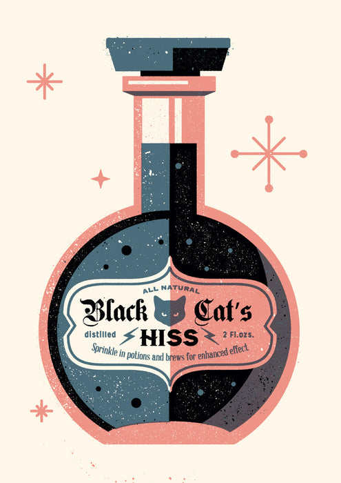 BLACK CAT'S HISS - Giclée print