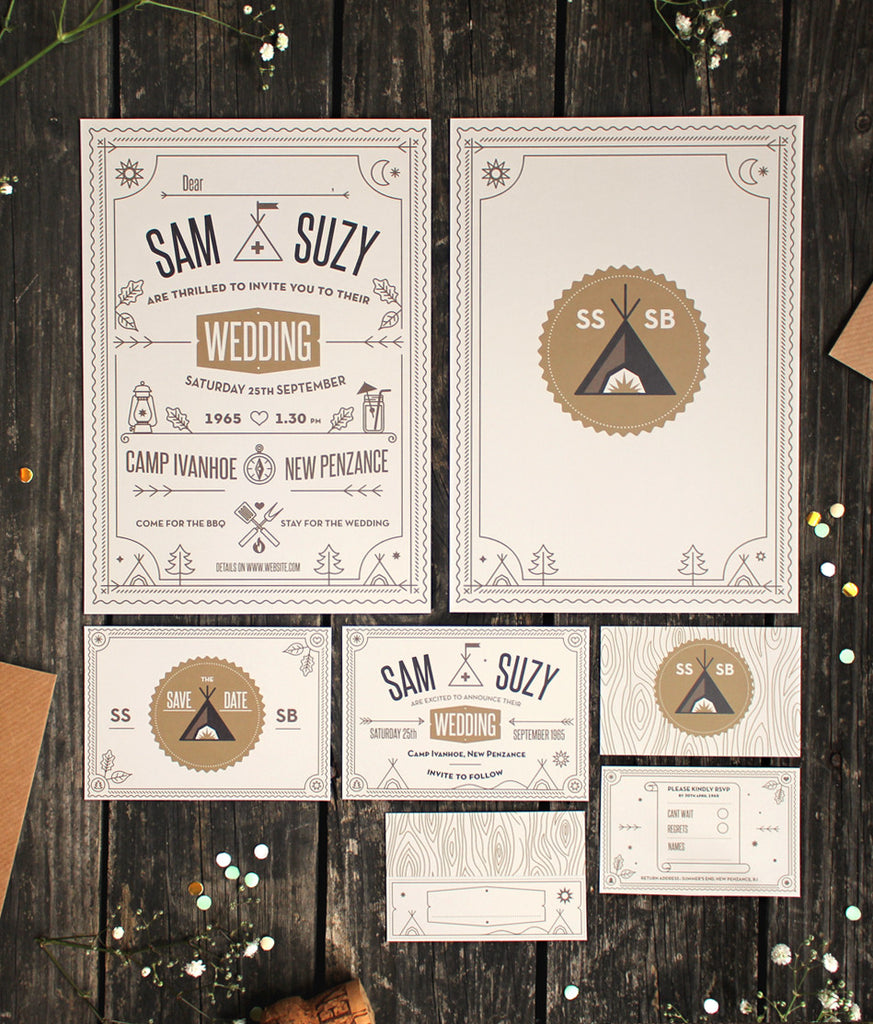 CUSTOM WEDDING INVITES - SAM & SUZY