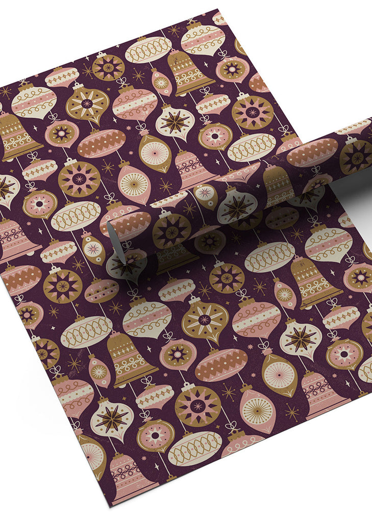 Christmas Baubles Gift Wrap